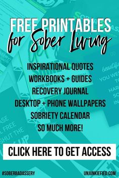 b66725069 Are you ready to live the sober lifestyle that you want? Join the  Unjunkiefied family