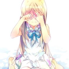 Menma/Honma Meiko AnoHana/Ano Hi Mita Hana no Namae o Bokutachi wa Mada Shiranai The Flower We Saw That Day Manga Girl, Manga Anime, Fanart Manga, Art Anime, Anime Kunst, Kawaii Anime, Kawaii Girl, Anime Triste, Otaku