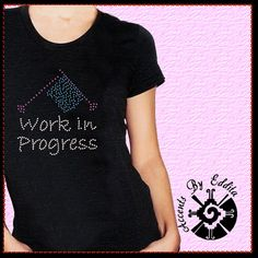 Work In Progress with Knitting Needles and by AccentsByEddita, $12.99