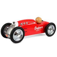 Coche metal rocket rojo 20cm de Baghera. Es una réplica perfecta de los coches de carreras y se distingue por su alta calidad y acabados refinados.