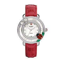 Michele Diamond Ladybug Watch