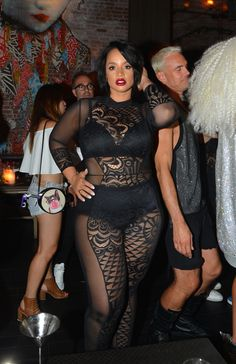 """[My stylist] Darius Baptist thought that I should wear a bodysuit and just show my thighs, since I'm so self-conscious about them,"" said Polanco, who also wore this sheer catsuit to The Blonds' after party."