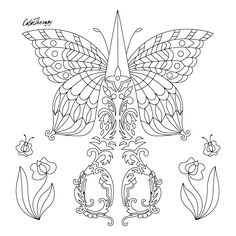 114 Best Butterflies Coloring Pages For Adults Images In 2019