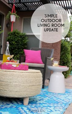 A fresh look for an outdoor living room. Just in time for summer!