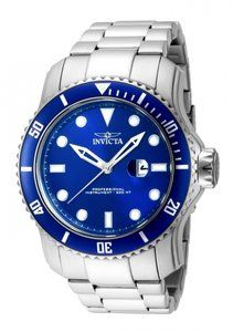 Invicta Pro Diver 15076  48.8 mm in Stainless SteelCase | Glass | BraceCaseDiameter = 48.8 mmHight = 16.8 mmMaterial = Stainless SteelCase Tone = Stainless SteelBezel Function = Uni-directionalBeze...