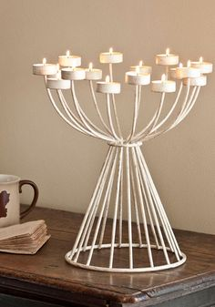 Cute candelabra for a dinner table center piece or a side table decor or even a foyer centerpiece on a table. , #ModCloth