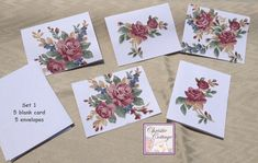 Greeting Card set, flowers, Made in America
