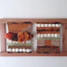Telar mural Tapestry Weaving, Loom Weaving, Hand Weaving, Tear, Woven Wall Hanging, Nature Crafts, Lana, Knit Crochet, Carpet