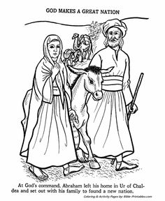 Abraham Bible Story Coloring Page