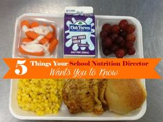 Hey Parents- 5 things your school nutrition director wants you to know. School lunch programs may not be run the way you would think they are. There's a lot of things I learned by talking with our local school nutrition director! #client