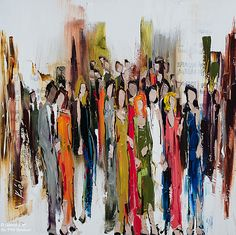 Kimberly Kiel, 'Met on a Tuesday', 24'' x 24'' | Galerie d'art - Au P'tit Bonheur - Art Gallery