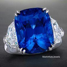 A rare treasure of extraordinary quality and size. #MartinKatz presents 17.83 carats of intensely rich #BurmeseBlueSapphire! #MartinKatzJewels #HighJewelry #SapphireRing #BlueSapphire