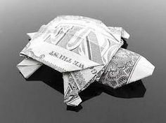How to make an origami Dollar Bill Turtle Easy TUTORIAL