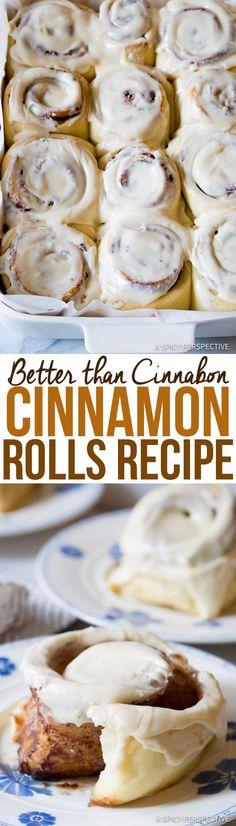 "Amazing ""Better than Cinnabon"" Cinnamon Rolls Recipe | ASpicyPerspective.com via @spicyperspectiv"