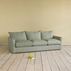 Large Pavilion - Lovely British Upholstered Sofas Online Pavilion in french blue brushed cotton - Sofas | Loaf