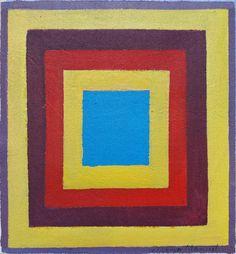 """""""Cuadrado sobre cuadrado"""" , acrylic on canvas, 23 x 24 cm, 2017"""
