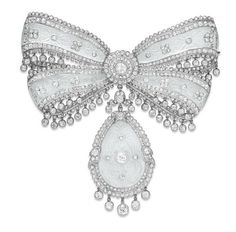 Cartier Diamond Bow Brooch