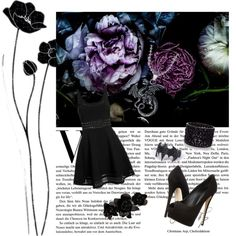 Black by mylovelyparadise on Polyvore featuring polyvore, beauty, L. Erickson, Oasis, Elizabeth and James, Giuseppe Zanotti and Therapy