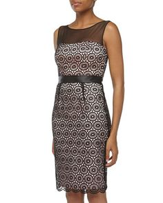 Sleeveless Lace Cocktail Dress, Black by Laundry by Shelli Segal at Neiman Marcus Last Call.