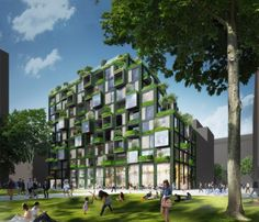 ingenhoven architects presents their sustainable design for an upcoming new residential district of Berlin called WerkBundStadt.