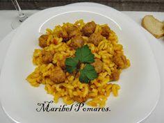COCINANDO CON MARIBEL: Fideua con salchichas frescas y verduras en olla programable.