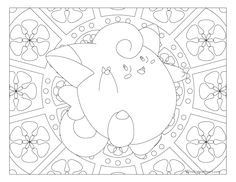 Free printable Pokemon coloring page-Clefairy. Coloring fun for all ages, adults and children. Pokemon Coloring Sheets, Chibi Coloring Pages, Cute Coloring Pages, Printable Coloring Pages, Free Coloring, Adult Coloring Pages, Coloring Pages For Kids, Coloring Books, Coloring Stuff