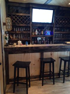 Diy Bar for Man Cave - Diy Bar for Man Cave , Garage Bar Idea for the Hubby S Man Cave Like This but How Would Man Cave Bars Man Cave Bar Georgia Outdoor News forum Man Cave Bar Pletely Made From Pallets Man Cave Bar Basement Bar Designs, Home Bar Designs, Man Cave Bar Designs, Basement Ideas, Rustic Basement Bar, Man Cave Basement, Man Cave Garage, Man Cave Shed, Car Garage