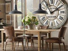 Love the Clock  -  Herman Grans ♥: Restoration Hardware