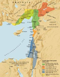 The Crusader States at their Greatest Extent