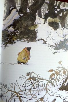 Wind in the Willows illustration: Mole in winter