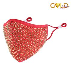 DESTINY GOLD CRYSTAL FACE MASK - RED – Natalie Mills Love Destiny, Great Glam, Sparkles Glitter, Austrian Crystal, Buy 1, Red Gold, Make It Yourself, Crystals, Face