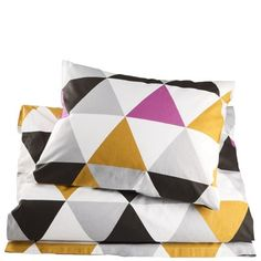 From Åhléns Perfect for our bedroom with black, white, grey, mustard & pink.