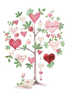 Valentines Watercolor, Valentines Art, Be My Valentine, Valentines Illustration, Art And Illustration, Watercolor Flowers, Watercolor Paintings, Graphic Wallpaper, Decoupage Paper