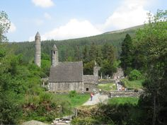Glendalough, monastic site in Ireland. Early Christian, founded Century by St. Kevin, developed into 'Monastic City'. Local History, Family History, Qualities In A Man, Early Christian, Us Travel, Dublin, Mount Rushmore, Image Search, Ireland