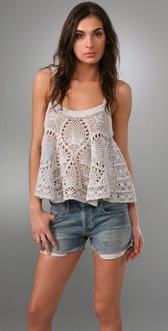 Crochet Cami by Free People