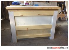 DIY twin bed with drawers. Diagram, photos, materials list and instructions for putting together the DIY twin bed. Bed Storage, Storage Drawers, Twin Bed With Drawers, Twins, Kids Room, Table, Projects, Diy, House