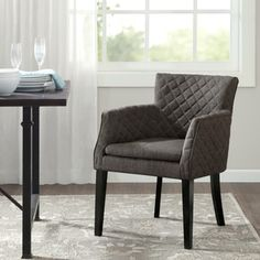 Shop for Madison Park Nicole Charcoal Quilted Dining Chair. Get free shipping at Overstock.com - Your Online Furniture Outlet Store! Get 5% in rewards with Club O! - 19890082