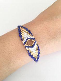 Items similar to Gold plated woven Miyuki Beads Bracelet on Etsy Diy Jewelry, Beaded Jewelry, Jewelery, Handmade Jewelry, Rakhi Design, Bead Embroidery Jewelry, Gold Plated Bracelets, Silver Rings Handmade, Seed Bead Bracelets