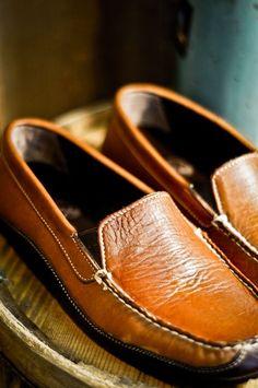 New Authentic Bison Moccasins. Men's Driver - The Jackson - Casual Shoe