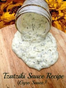 Tzatziki Sauce. 1 medium cucumber, peeled, seeds removed and cut into small chunks ½ teaspoons kosher salt 2 teaspoons finely chopped onion ¾ cup plain Greek yogurt ¾ cup sour cream 2 Tablespoons Mayo 1 small clove garlic, grated 1 teaspoon garlic powder 1½ teaspoons chopped fresh dill Instructions Sprinkle salt on cucumber chunks and let sit for 5 - 10 mins. Dice cucumber finer and push down slightly to remove water...