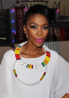 Five minutes with Nhlanhla Nciza African Necklace, African Beads, African Jewelry, Tribal Jewelry, African Dresses For Women, African Attire, African Women, Ghanaian Fashion, African Fashion