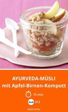 Ayurveda-Müsli - mit Apfel-Birnen-Kompott - smarter - Kalorien: 313 Kcal - Zeit: 15 Min. | eatsmarter.de