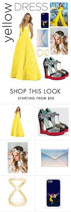 """""""untitled #4"""" by meenasundrum ❤ liked on Polyvore featuring Morrell Maxie, Gucci, Emily Rose Flower Crowns, Rebecca Minkoff and Fallon"""
