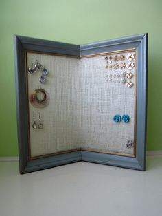 Framed craft foam sheets great stud earring holder I can do that