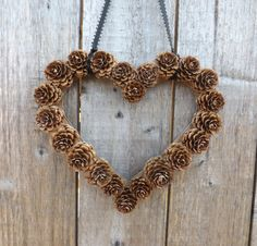 Heart+Shaped+Pine+Cone+Wreath+Rustic+decor+Wreath+by+FeltWitch,+£6.00