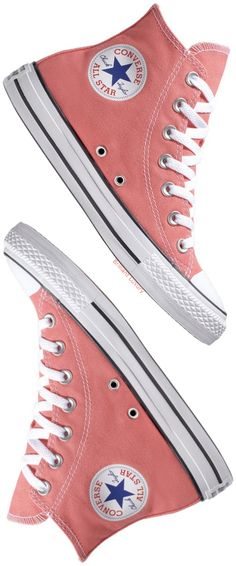 Brilliant Luxury♦Converse All Star coral chucks Converse All Star, Cute Converse, Converse Shoes, Converse High Tops Colors, Cute Shoes, Me Too Shoes, Comfy Shoes, Coral Accessories, Dr. Martens