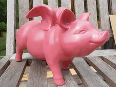 Pink Flying Pig Ceramic Home Decor by MapleTreeProductions