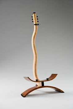 Maple, ebony and bubinga guitar stand