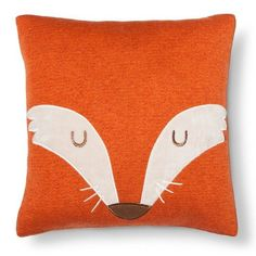 Your child will have a friend to come home to every day with the Square Fox Pillow from the Pillowfort Marvelous Manor collection. This kids' fox pillow has a square shape in orange with a face on half the pillow with whiskers and closed eyes. Perfect for a girl's or boy's room with an outdoors theme, this fox pillow will pop on the bed.