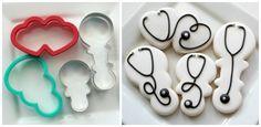 Stethoscope Cookies {sweet sugar belle} #medical #cookies